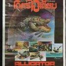 Orig. Alligator 1980 Thai Movie Poster Cult Horror Robert Foster No Blu ray DVD
