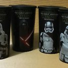Star Wars The Force Awakens 2015 Set of 4 Pepsi Cup Glasses Asia Kylo Ren No DVD