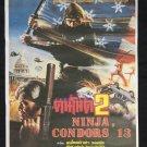 Ninja Condors 13 1987 Thai Movie Poster Alexander Rei Lo Stuart Hugh  Timothy J