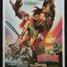 Red Sonja 1985 Thai Movie Poster Arnold Schwarzenegger Brigitte Nielsen No DVD