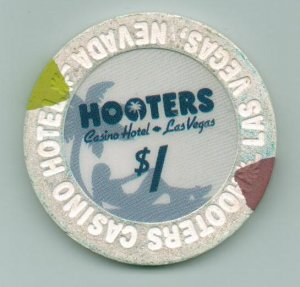 $1 Dollar Hooters Obsolete Las Vegas Casino Chip