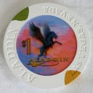$1 Dollar ALADDIN LAS VEGAS Nevada Obsolete Casino Poker Chip 12th Issue
