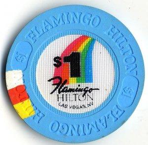 $1 Dollar Flamingo Hilton Casino Chip Las Vegas Nevada