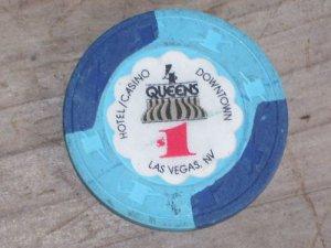 $1 Dollar Four Queens Casino Chip Las Vegas NV 6TH Edition
