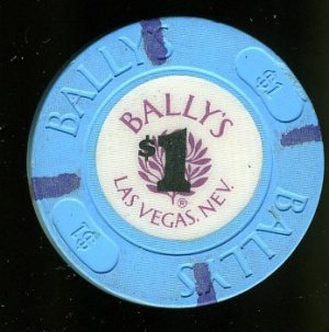 $1 Dollar Ballys Casino Chip 4th Issue House Chip Las Vegas, NV