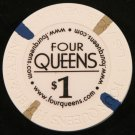 $1 Dollar Four Queens Casino Chip Downtown Fremont St. LAS VEGAS NEVADA