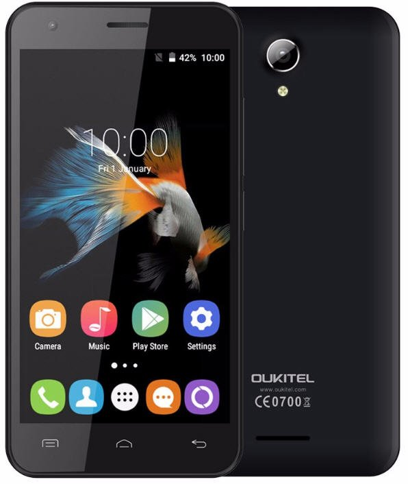 "OUKITEL C2 3G WCDMA 4.5"" IPS Smartphone Android 5.1 Quad Core 1.3GHz MTK6580M 1GB+8GB 5MP Dual SIM"