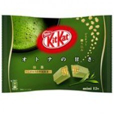 Kit Kat Maccha(green tea) flavor, (12 mini bars) by Nestle