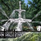 Forsyth Fountain Savannah GA oil painting art print