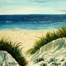 oil beach painting giclee art print