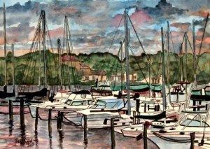 eau gallie boat marina