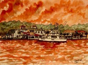 yacht painting nautical art print