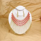 Golden Chain Necklace: Coral