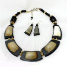 Bronze Quartz Beaded Necklace Set