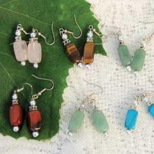 Set Of 6 Agate Earrings
