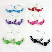 Set Of 12 Dazzle Bead Earrings