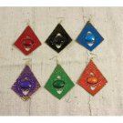 Set Of 12 Tribal Diamond Gem Earrings