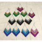 Set Of 12 Glitter Sparkle Blade Earrings