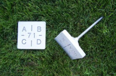 """Steel/ Polymer Square Temporary Grave Marker 5"""""""