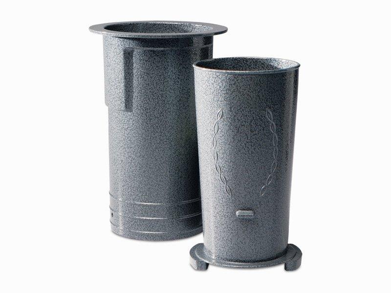 Spartan Series Vase/Case (half exposed))-Grey Individual