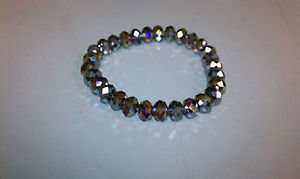 Purple  bead crystal stretch bracelet can be used as loose beads