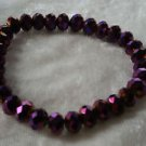 Deep Purple Glass crystal bead stretch bracelet lose stone Downton Abbey