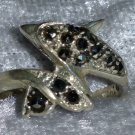 Dolphin marcasite  sterling silver ring sz 5.5 vintage 80s way cute aww face