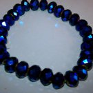 black glass bead crystal stretch bracelet can be used as loose beads