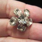 vintage flower brooch pin silver tone petite scatter pin Petite