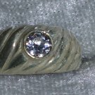 Vintage clear CZ sterling silver size 6.5 ring Downton Abbey man or woman