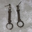 vintage Sterling silver post circle earrings from the 80s
