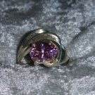 Vintage pink Ice stone Sterling silver ring Downton Abbey size 5.5