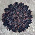 Vintage pin brooch Mum flower celluloid? brown stunning