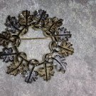 Signed Sarah Coventry silver & gold tone Vintage Garland Wreath
