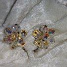 Vintage    crystal earrings So Downton abbey clip on  lot 112 redo