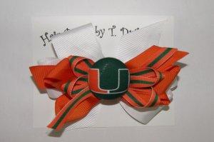 University of Miami Hair Bow