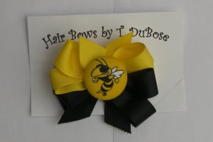 Georgia Tech Hair Bow