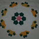 Peeking Frogs and Lily Pads Doily Crochet Pattern