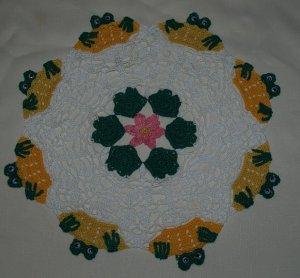 Peeking Frogs and Lily Pads Doily Crochet Pattern