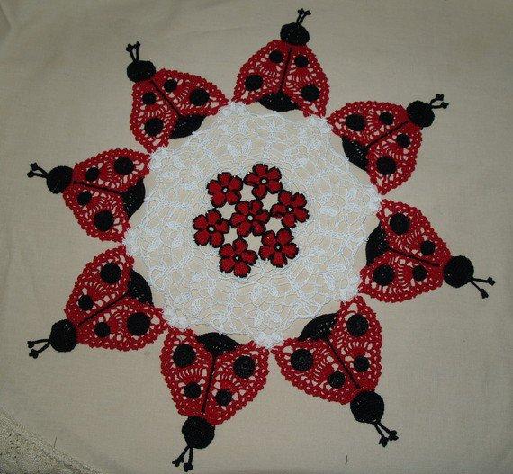 Ladybug Doily Crochet Pattern
