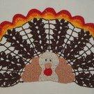 Thanksgiving Turkey Crochet Doily Pattern