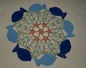 Circle of Fish Crochet Doily Pattern