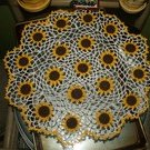 Crochet sunflower doily pattern