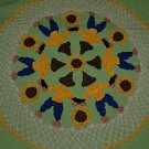 Crochet Scarecrows and Sunflowers Doily Pattern
