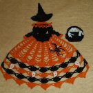 Halloween Witch Doily Girl Pattern
