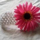 Pink Polka Dot Daisy- Crochet