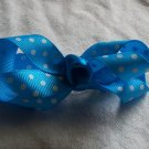 Turquoise Dots Bow