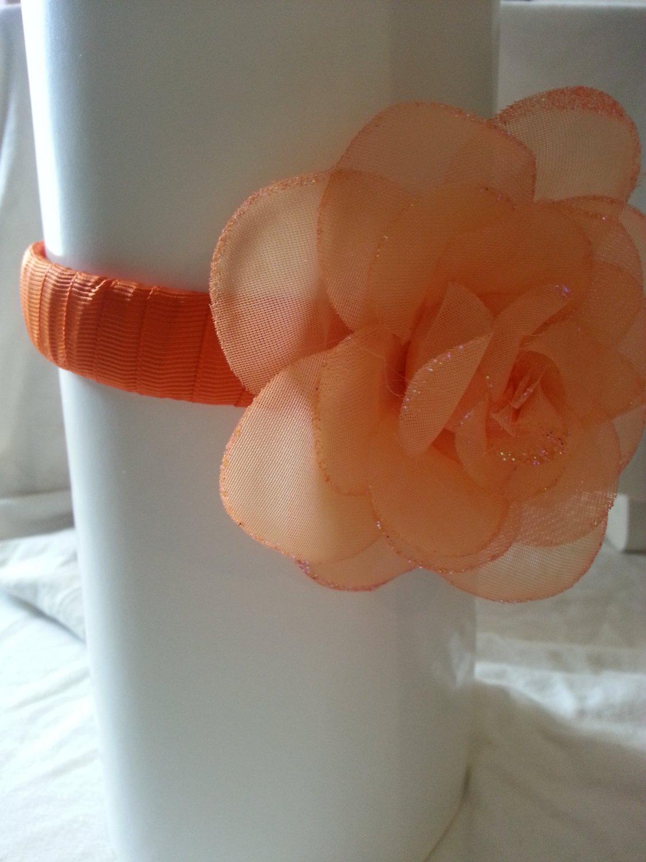 Orange Floral Headband