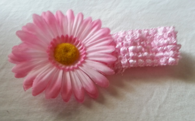 Soft Pink Crochet Headband