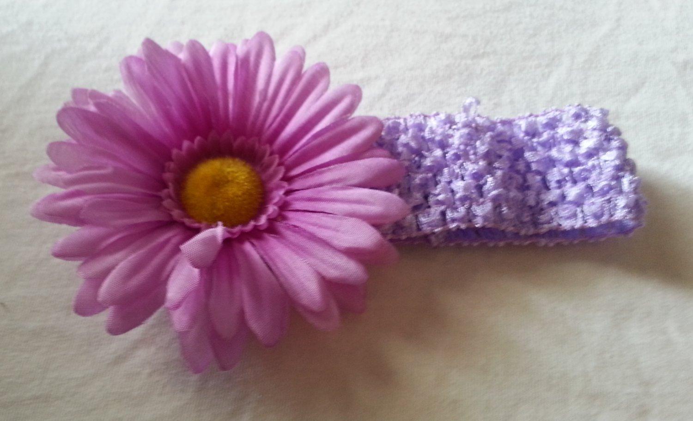 Lavender & Purple Crochet Headband